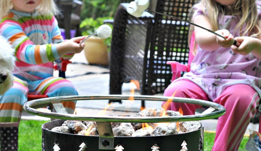 Marshmallows in the Backyard