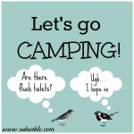 "Let's Go Camping: Add some ""glam"" to the camp!"