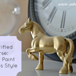 She's Thrifty: Draft Horse Goes Gold and Glamorous!