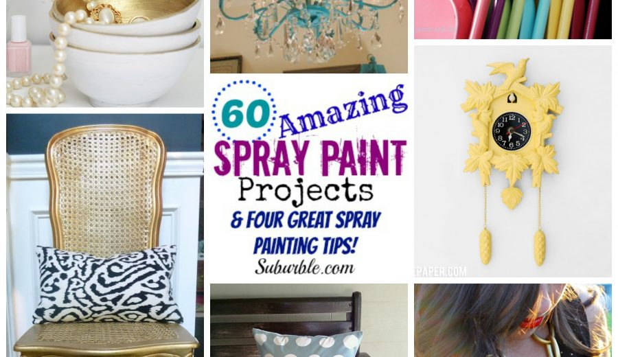 60 Amazing Spray Paint Projects (& Four Great Spray Painting Tips!)