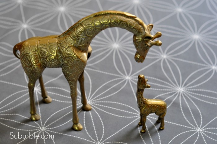 Brass Giraffe Before - Suburble