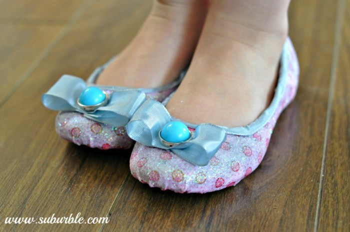 DIY Glitter Shoes - Suburble
