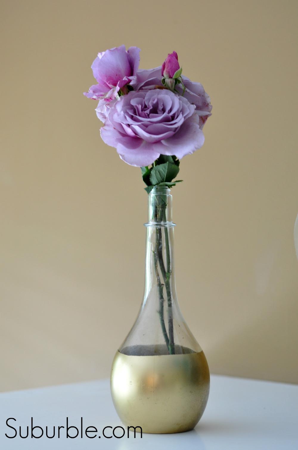 diy gold dipped vase live creatively inspired. Black Bedroom Furniture Sets. Home Design Ideas