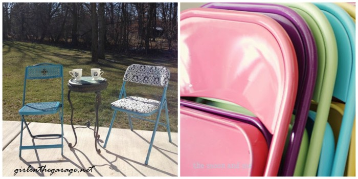 Spray Painted Chairs 2