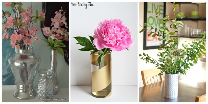Spray Painted Vases