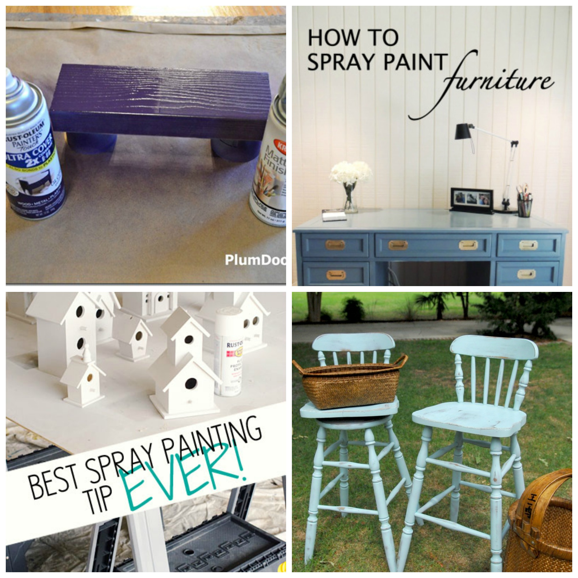60 amazing spray paint projects four great spray painting tips. Black Bedroom Furniture Sets. Home Design Ideas