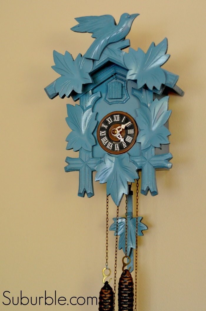 That time i spray painted a cuckoo clock suburble How to make a cuckoo clock