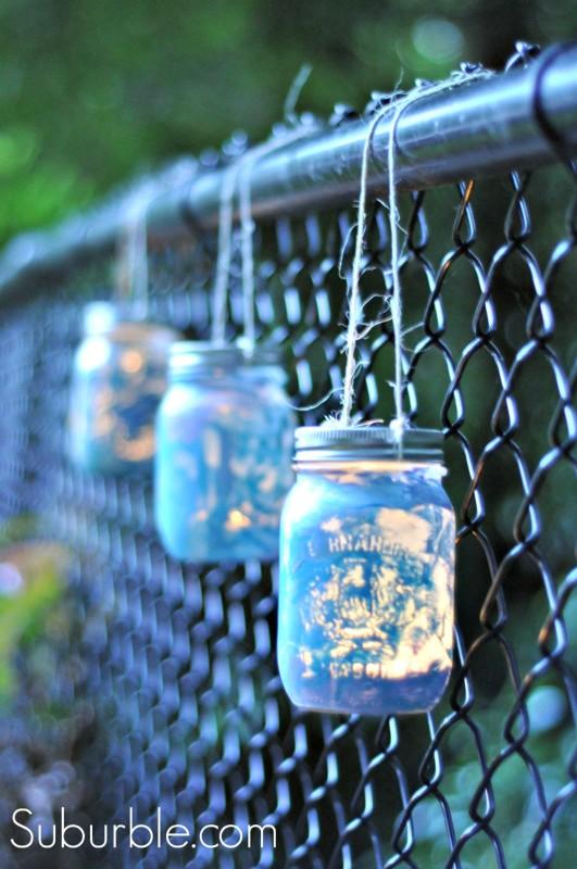 Painted Mason Jar Lantern 12 - Suburble