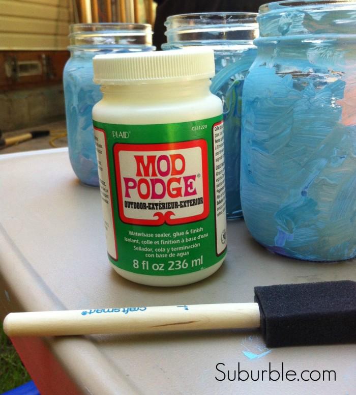 Painted Mason Jar Lanterns 6 - Suburble