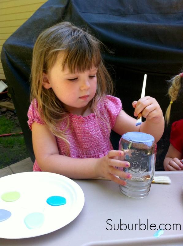 Painting Mason Jar Lanterns 1 -Suburble