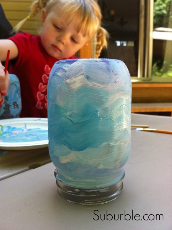 Painting Mason Jar Lanterns 4 - Suburble