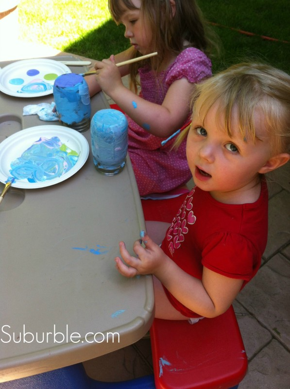 Painting Mason Jar Lanterns 5 - Suburble