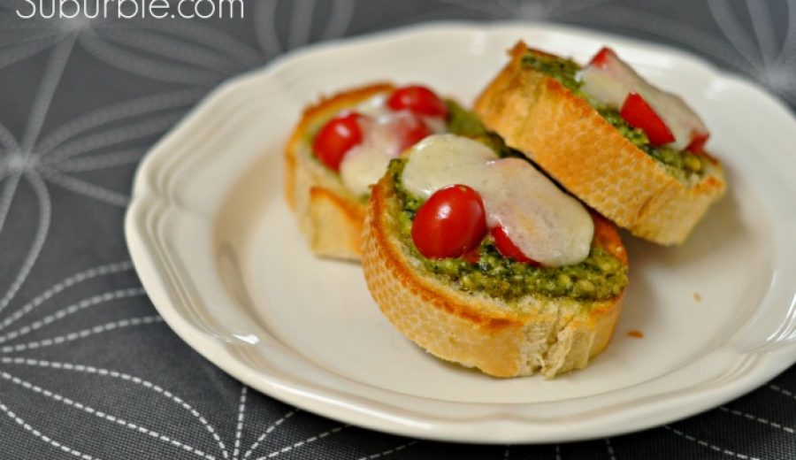 Pesto Mozzarella Melts