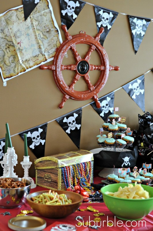 Exceptional Pirate Themed Decorating Ideas Part - 5: Pirate-Party-1-Suburble-531x800
