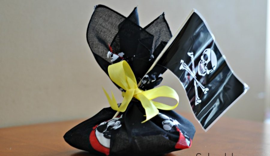Pirate Party Favours: Bandana Loot Bags