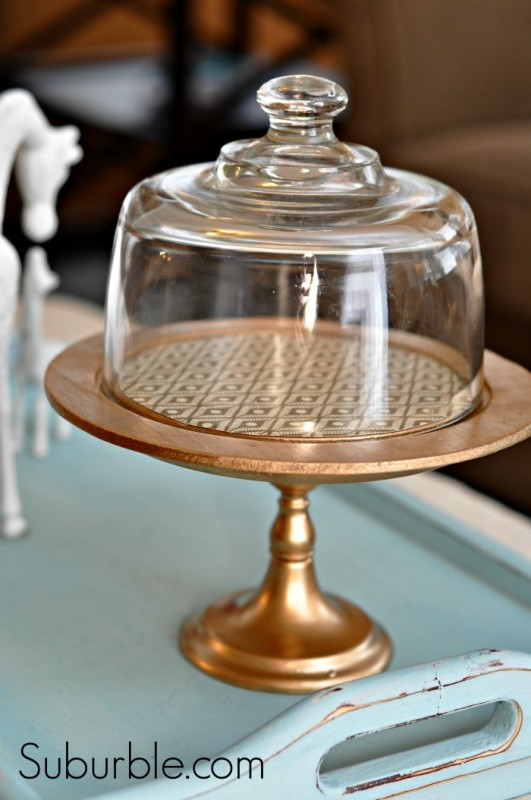 DIY Gold Cloche