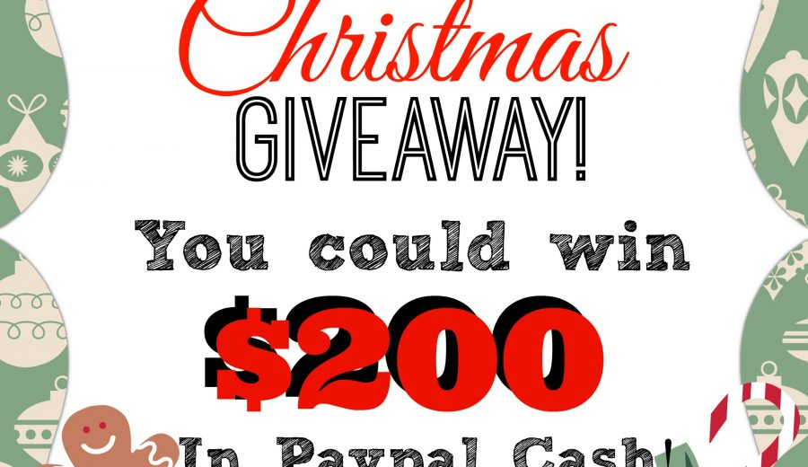 It's a fabulous giveaway! $200 PayPal Cash up for grabs!