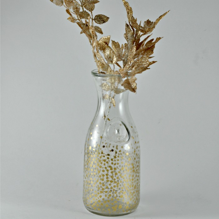 Gold Bubble Vase