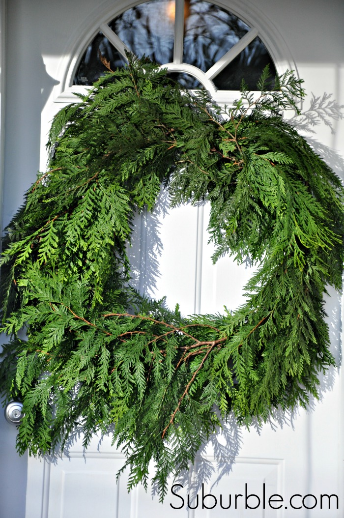Diy Rustic Cedar Wreath And The 2013 Canadian Wreath Hop