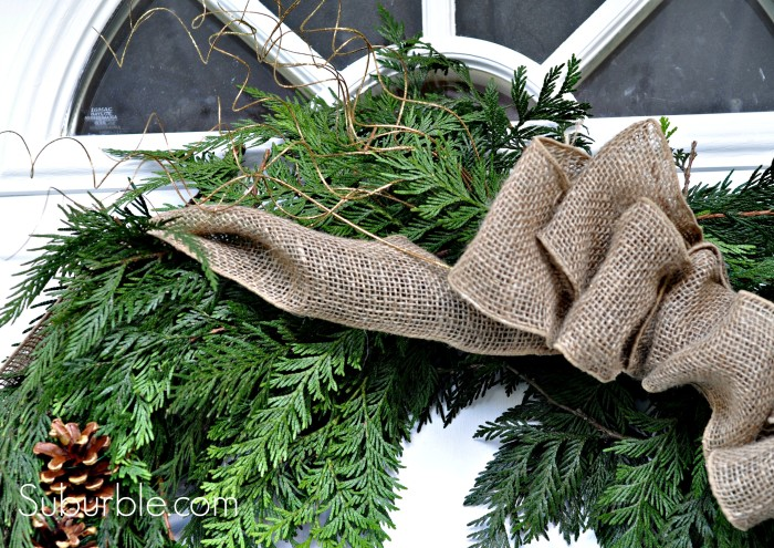 DIY Rustic Cedar Wreath 9 - Suburble