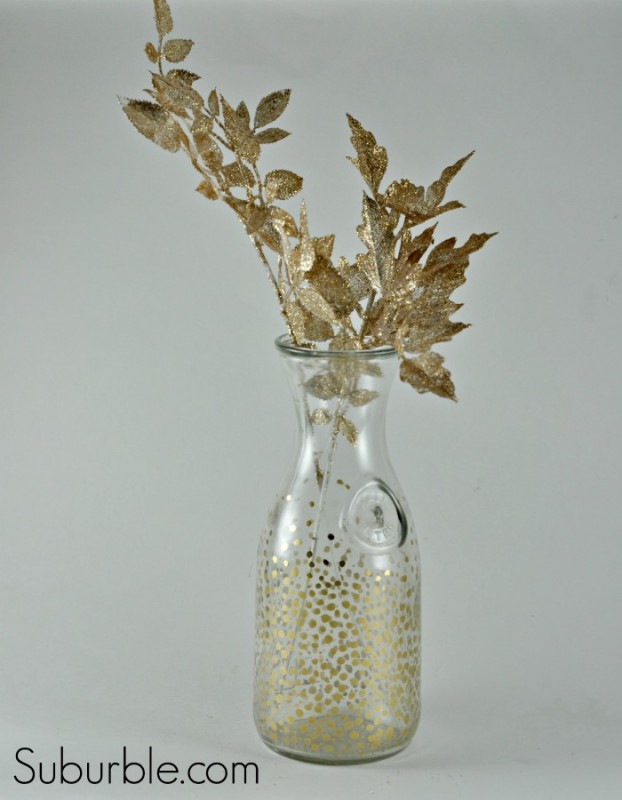 Gold Bubble Vase 2 - Suburble.com