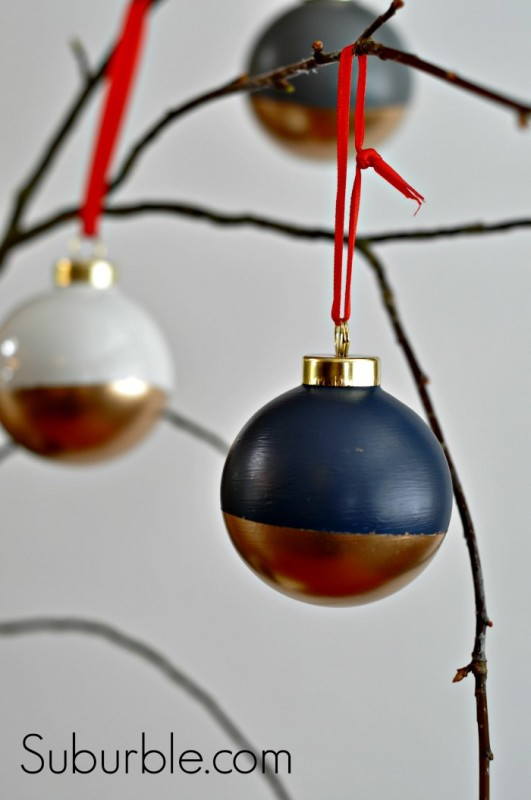 Gold Dipped Ornaments - Suburble.com
