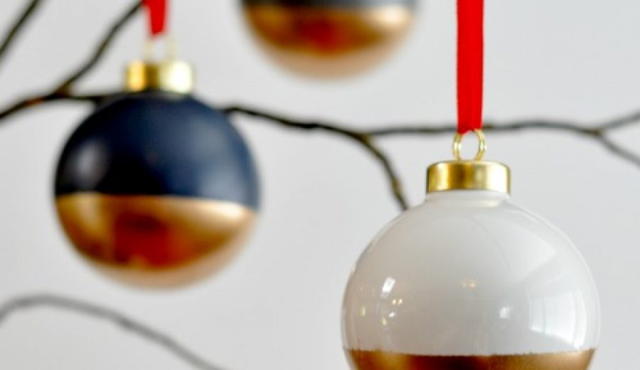 How To Make Gold-Dipped Ornaments