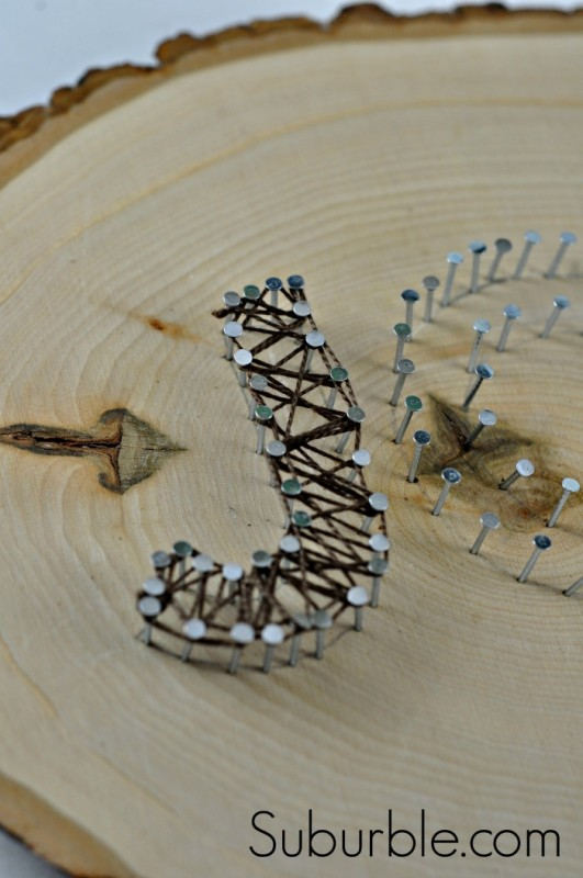 Joy String Art Tutorial 8 - Suburble