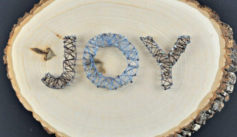 """Joy"" String Art"