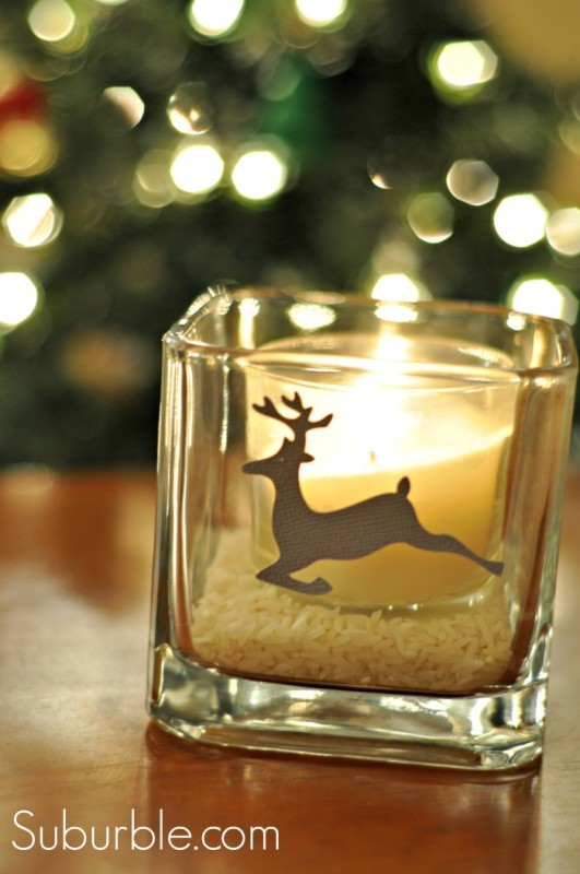 Silhouette Adhesive Cardstock - Deer Candleholder - Suburble