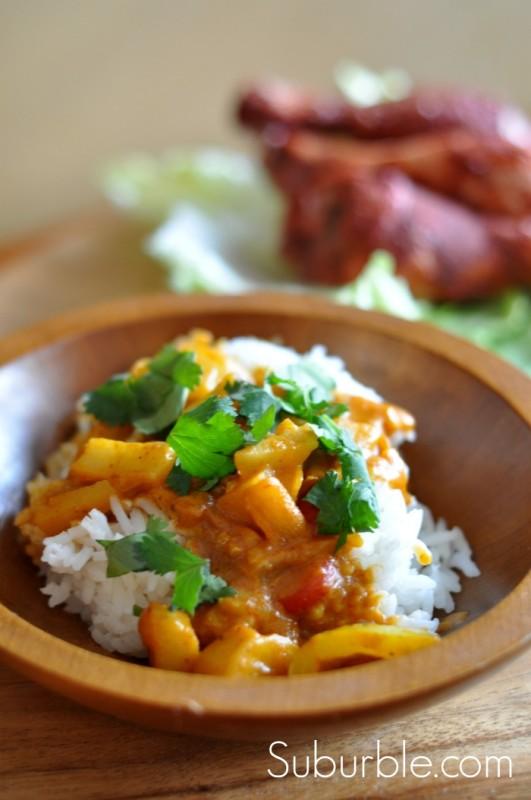 Vegetable Korma and Chicken Tandoori - Suburble