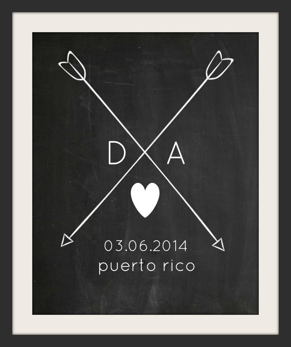 audreyandgem chalkboard wedding print