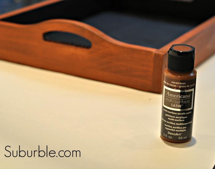 Chalkboard Tray - Cocoa Bean Paint - Suburble