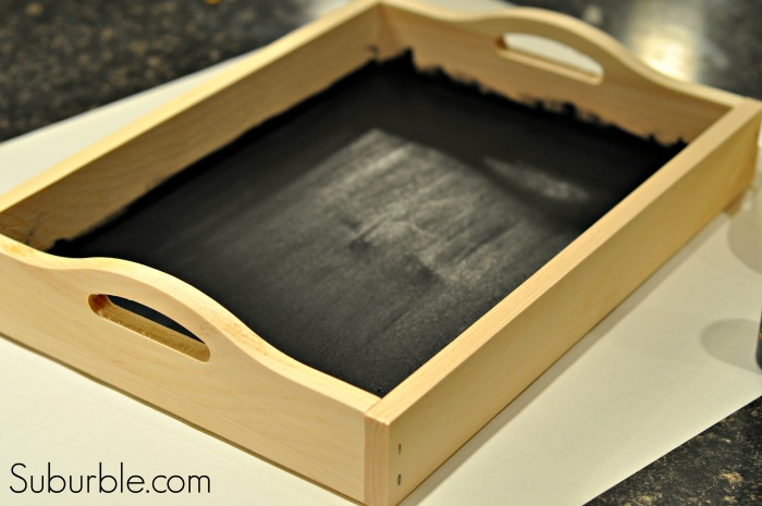 Chalkboard Tray - painted surface -  Suburble.com