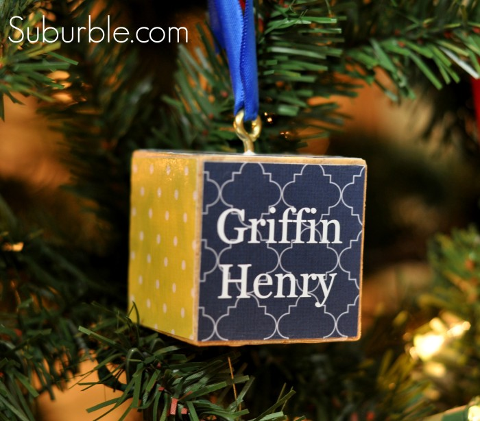 Personalized Block Ornament 2 - Suburble.com