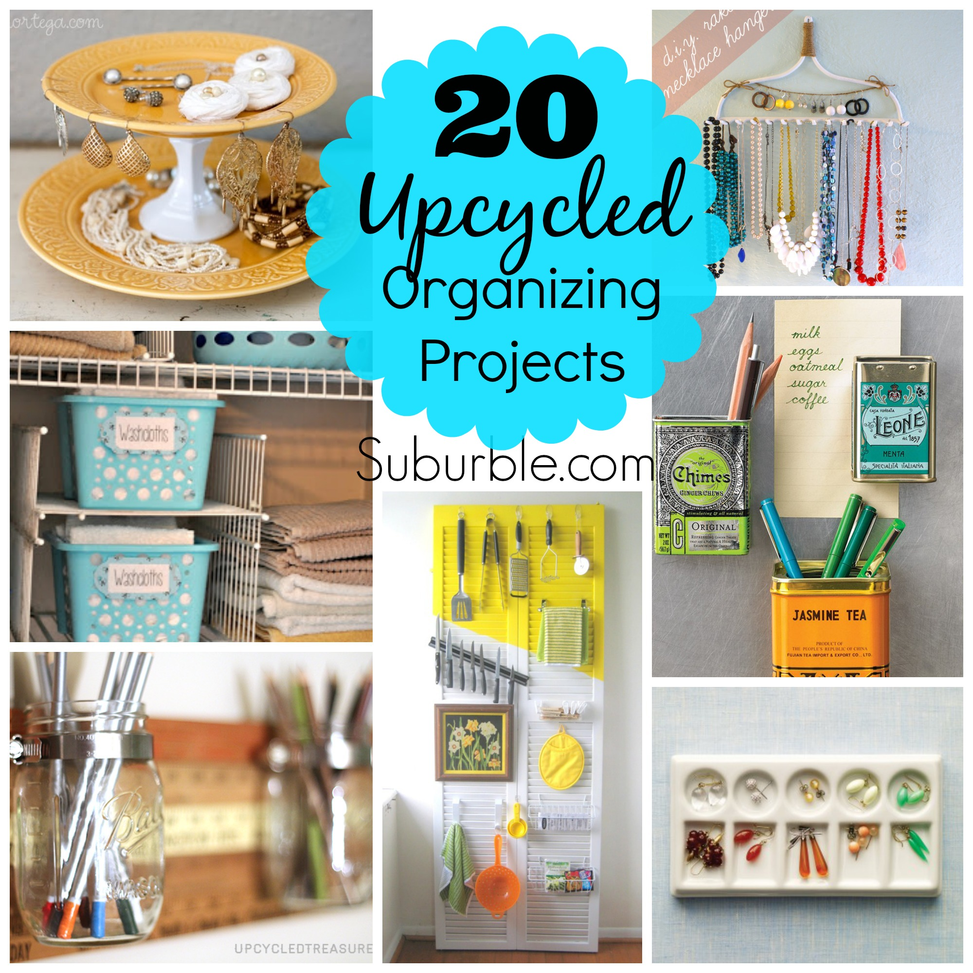 20 Awesome Upcycled Organizing Projects