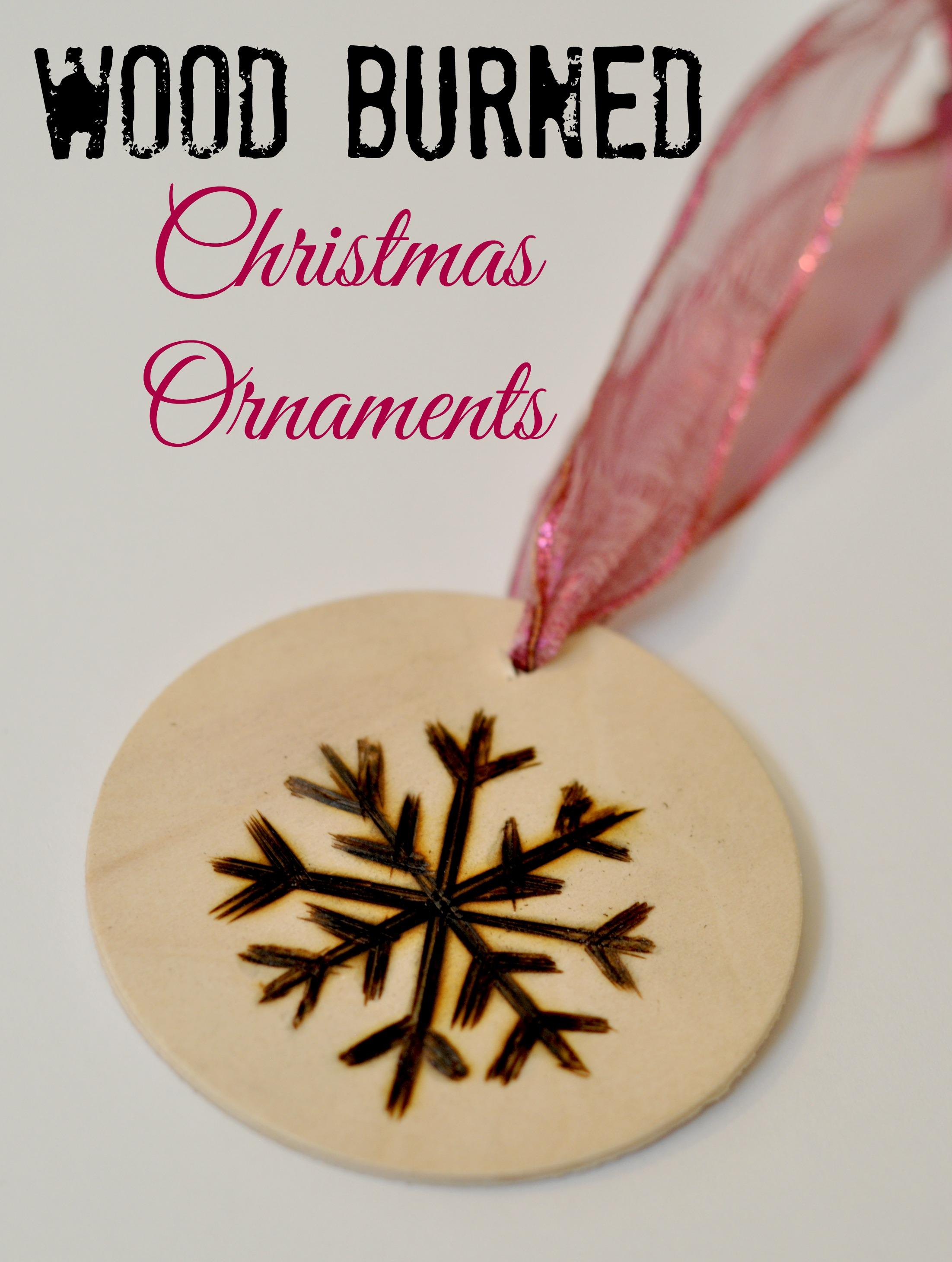 Wood burned Christmas Ornaments Suburble