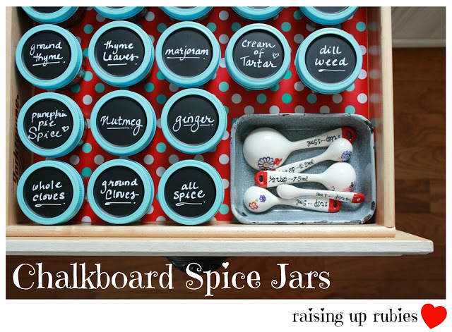 chalkboard spice jars ♥ raising up rubies