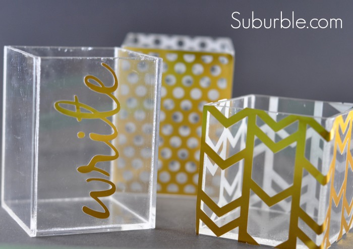 Acrylic Blocks turned Organizers - Suburble.com