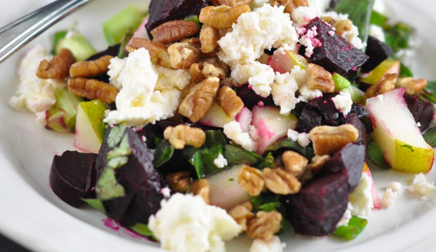 Beet, Pecan and Pear Salad (aka Heat's Beets)