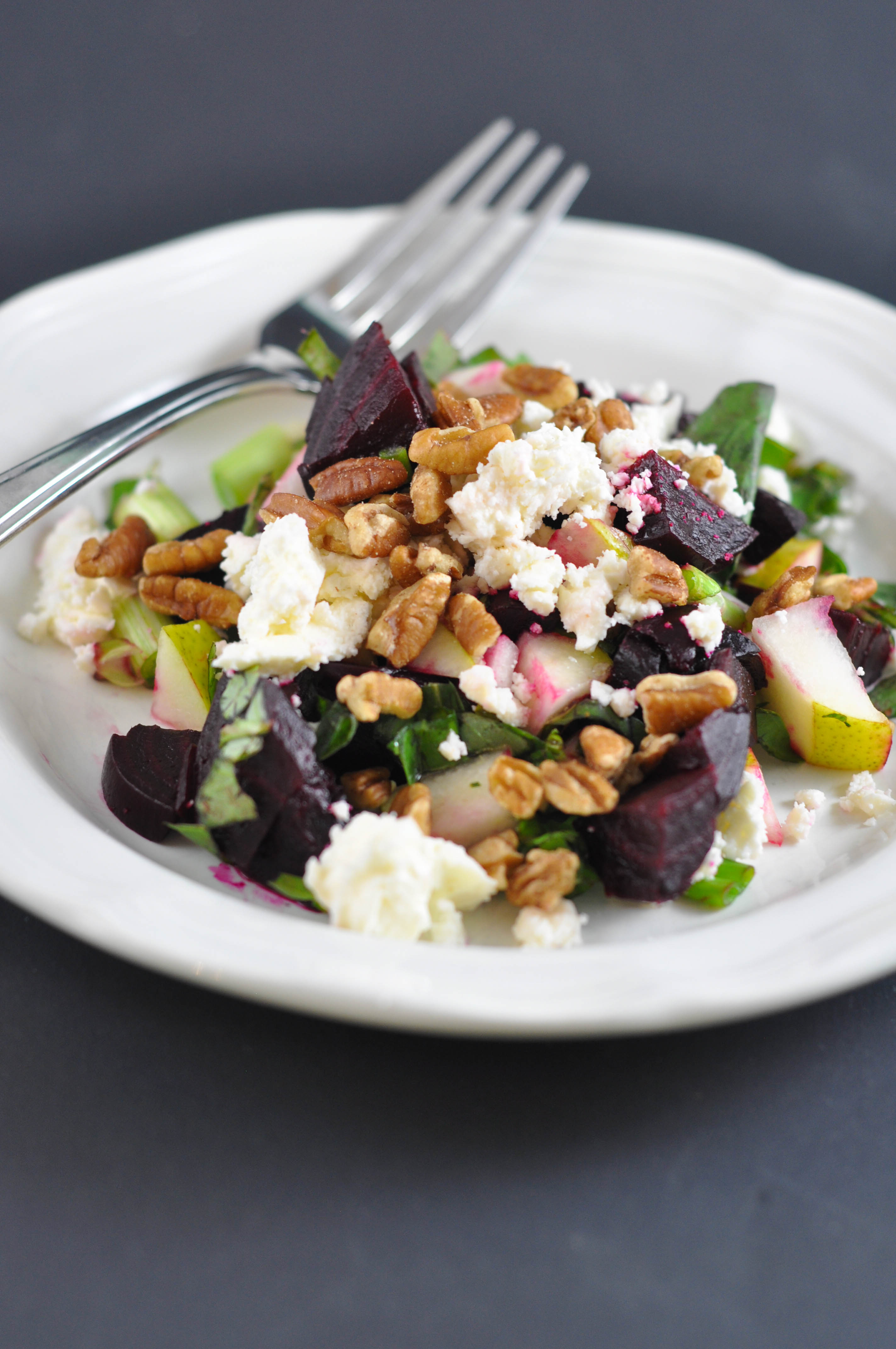Beet, Pecan and Pear Salad (aka Heat's Beets) - Suburble