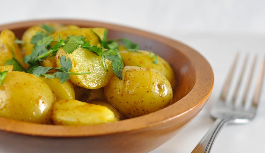 Warm Potato Salad with Curry Vinaigrette – It's as good as it sounds!