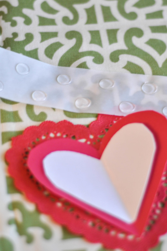 Heart Arrow Valentines - Glue dots and Valentine Assembly - Suburble.com (1 of 1)