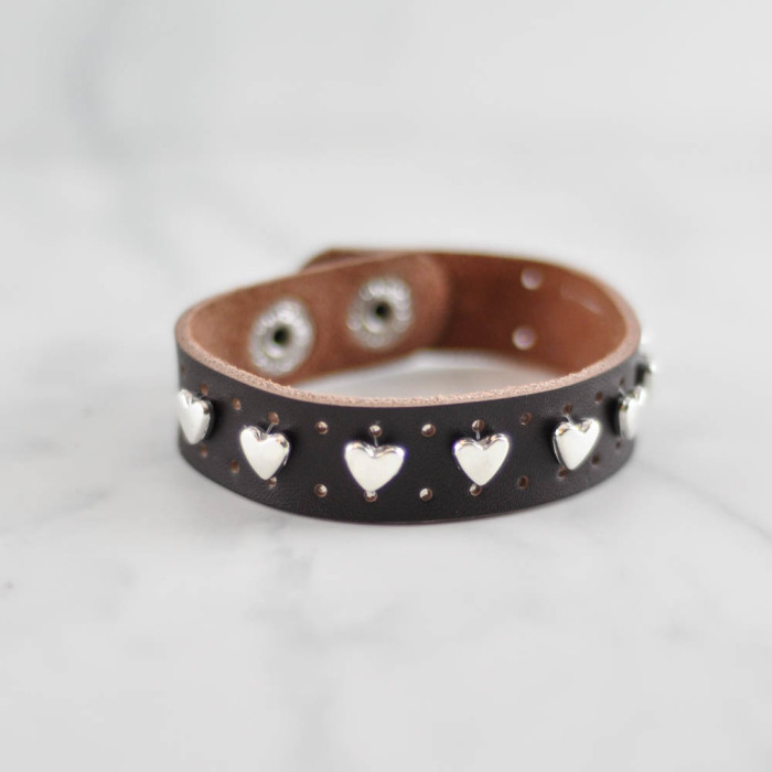 Heart studded leather cuff tutorial  - Suburble.com (1 of 1)
