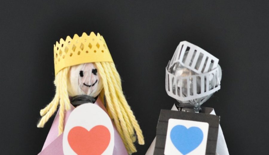 Princess and Knight Lollipop Valentines