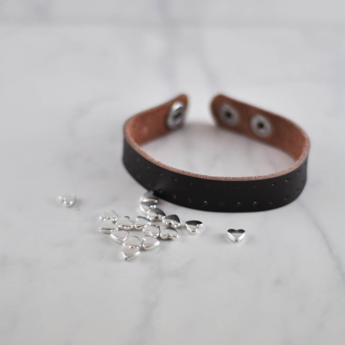 Silver Heart leather cuff tutorial - supplies  - Suburble.com (1 of 1)