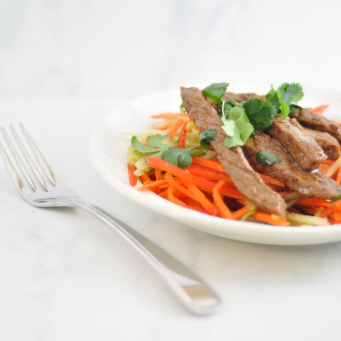 Teriyaki Steak Salad with Blue Dragon - Suburble.com (1 of 1)
