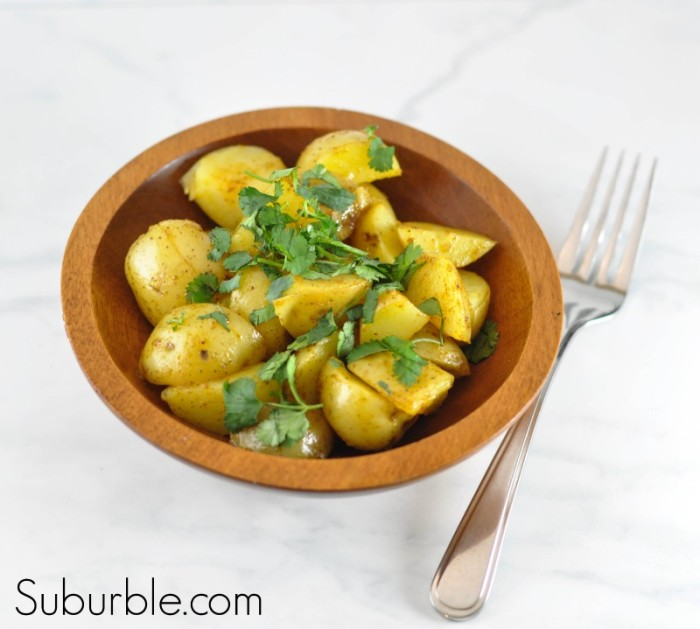 Warm Potato Salad with Curry Dressing - Suburble.com