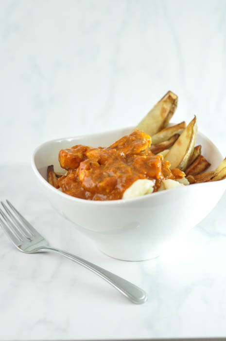 Butter Chicken Poutine Recipe with Homemade Fries - Suburble.com (1 of 1)