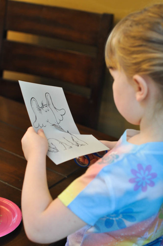 Cutting Horton  - Dr. Seuss Craft  - Suburble.com (1 of 1)